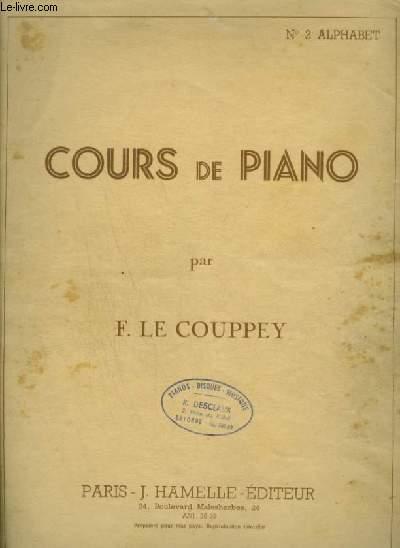 COURS DE PIANO - N°2 : ALPHABET.
