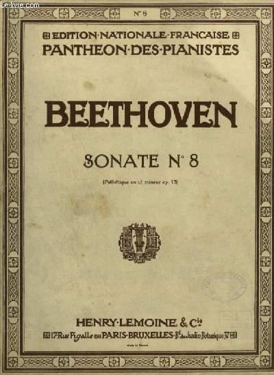 SONATES POUR PIANO N°8 : OP.13 PATHETIQUE EN UT MINEUR POUR PIANO.
