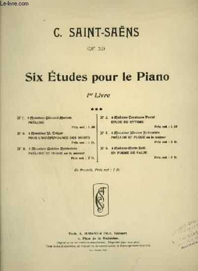 SIX ETUDES POUR LE PIANO - LIVRE 1 N°6 : EN FORME DE VALSE - PIANO.