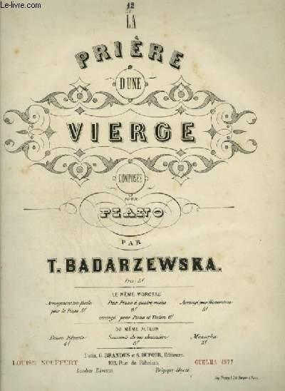 LA PRIERE D'UNE VIERGE - POUR PIANO.