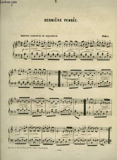 DERNIERE PENSEE - POUR PIANO.