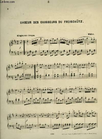 CHOEUR DES CHASSEURS DU FREISCHÜTZ - POUR PIANO.