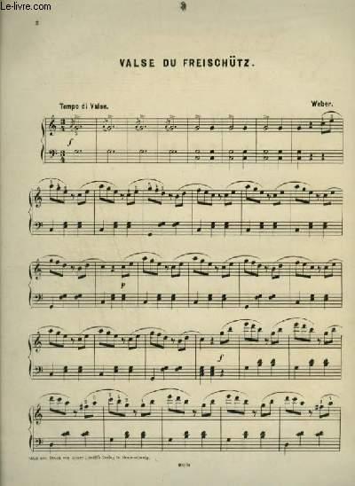 VALSE DU FREISCHÜTZ - POUR PIANO.