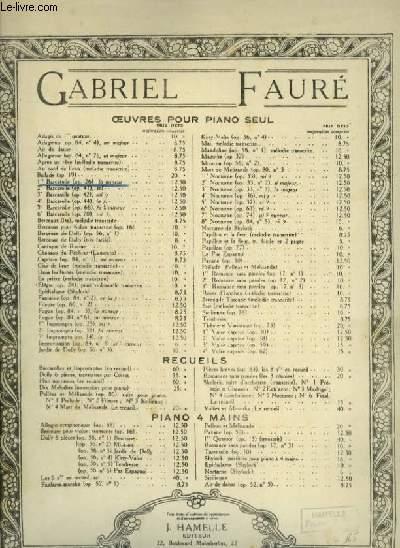 1° BARCAROLLE - PIANO.