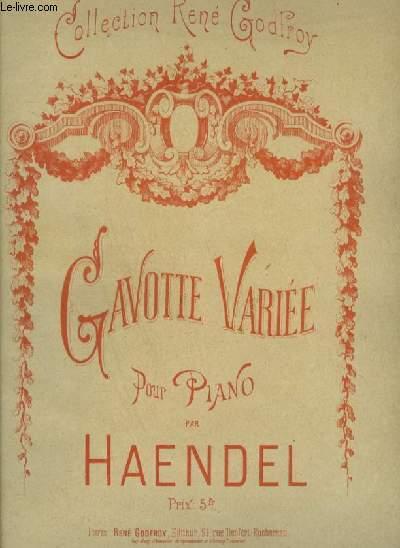GAVOTTE VARIEE POUR PIANO.
