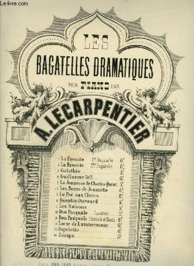 LES BAGATELLES DRAMATIQUES POUR PIANO - N°6 : LES NOCES DE JEANNETTE.