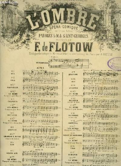 L'OMBRE - N°14 : COUPLETS - POUR PIANO ET CHANT AVEC PAROLES.