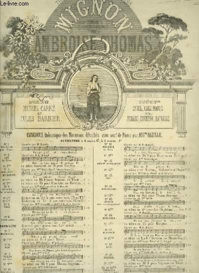 MIGNON - N°17 : ROMANCE DE MIGNON - POUR PIANO ET CHANT (VILHELM) AVEC PAROLES.