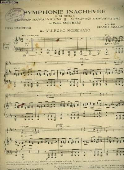 SYMPHONIE INACHEVEE - EN SI MINEUR POUR PIANO CONDUCTEUR.