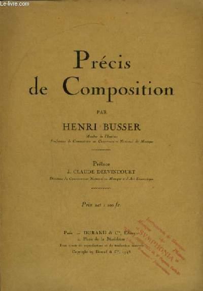 PRECIS DE COMPOSITION