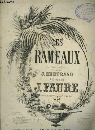 LES RAMEAUX - POUR PIANO ET CHANT AVEC PAROLES.