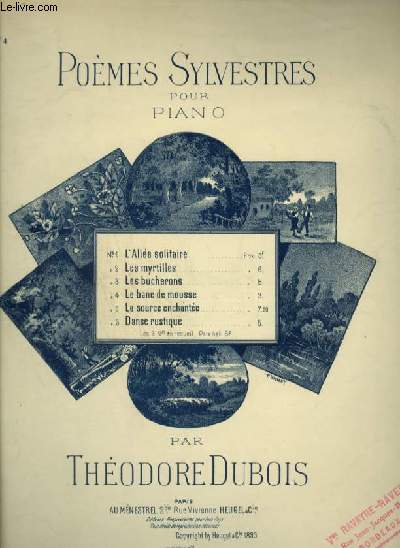 POEMES SYLVESTRES - N°4 : LE BANC DE MOUSSE - POUR PIANO.