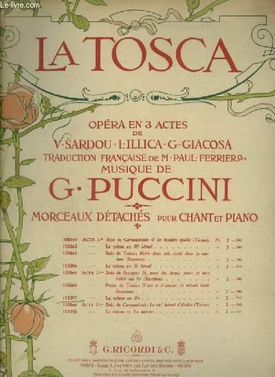 LA TOSCA - ACTE 2° : PRIERE DE TOSCA : D'ART ET D'AMOUR JE VIVAIS TOUTE (EN RE) - CHANT/PIANO AVEC PAROLES.
