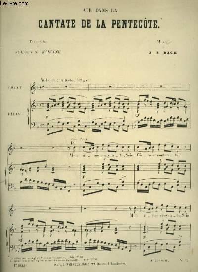 AIR DANS LA CANTATE DE LA PENTECOTE - POUR PIANO ET CHANT AVEC PAROLES.