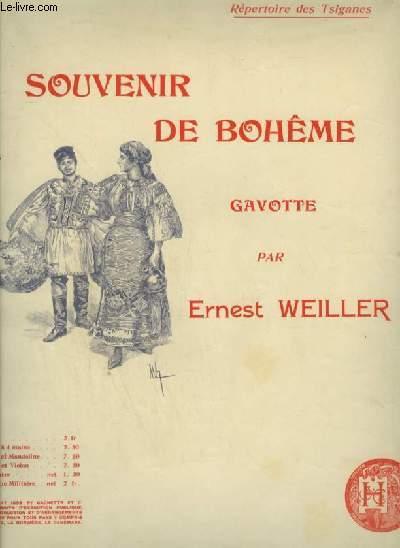 SOUVENIR DE BOHEME - GAVOTTE POUR PIANO - REPERTOIRE DES TSIGANES.