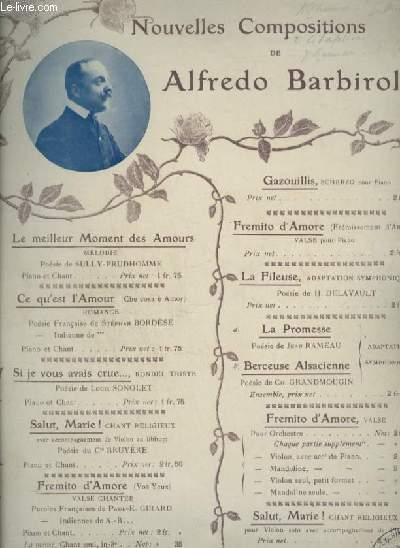 NOUVELLES COMPOSITIONS : LA FILEUSE - POUR PIANO ET VIOLON.