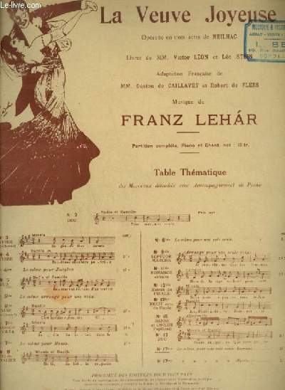 LA VEUVE JOYEUSE - N°17 BIS : VALSE HEURE EXQUISE - POUR PIANO ET CHANT A 1 SEULE VOIX AVEC PAROLES.