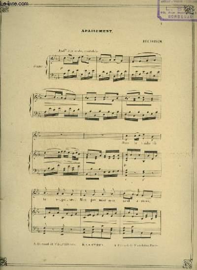 APAISEMENT - ECHOS N°169 : POUR PIANO ET CHANT AVEC PAROLES.