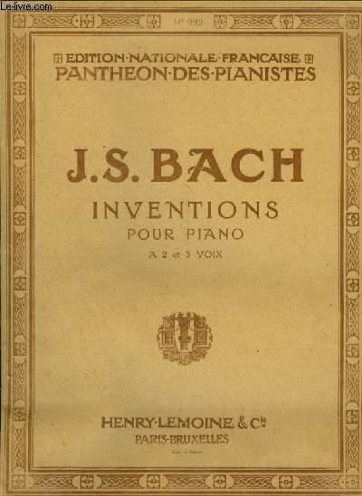 INVENTIONS POUR PIANO A 2 OU A 3 VOIX.