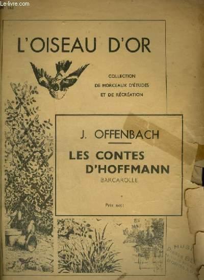 LES CONTES D'HOFFMANN - BARCAROLLE POUR PIANO.
