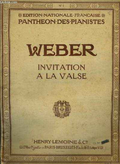 INVITATION A LA VALSE - POUR PIANO.