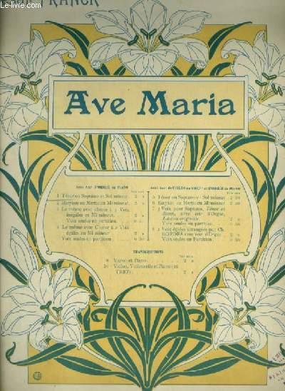 AVE MARIA - N°1 :  ORGUE ET CHANT MEZZO SOPRANO OU BARYTON.