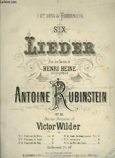 6 LIEDER - N°5 : ADORATION - PIANO ET CHANT AVEC PAROLES.
