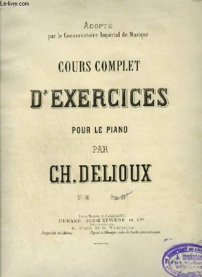 COURS COMPLET D'EXERCICES POUR LE PIANO.