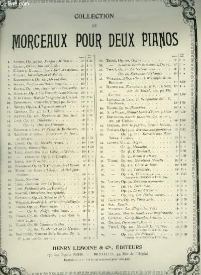 EN RAMANT - OP.122 - PIECE CARACTERISTIQUE POUR DEUX PIANO.
