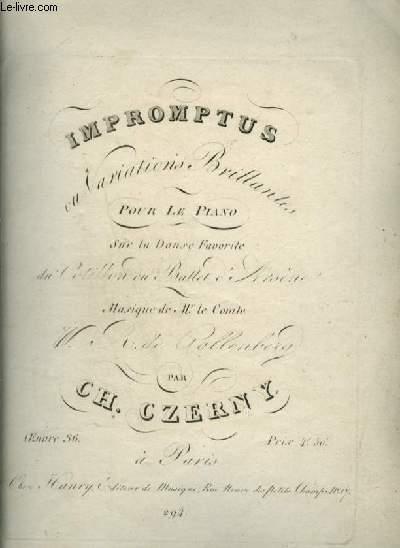 IMPROMPTUS - OU VARIATIONS BRILLANTES POUR LE PIANO.