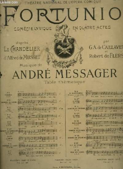 FORTUNIO - N°12 : ROMANCE DE JACQUELINE - POUR PIANO ET CHANT SOPRANO OU TENOR AVEC PAROLES.