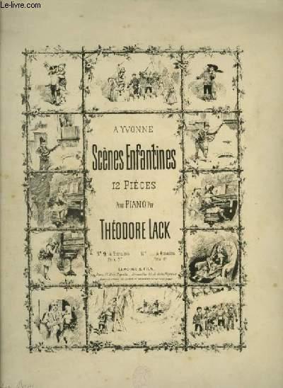 SCENES ENFANTINES : N°9 : LA LECON DE PIANO D'YVONNE - POUR PIANO.