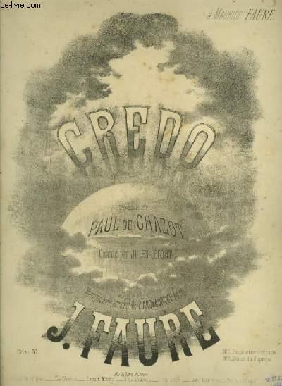 CREDO - POUR PIANO ET CHANT AVEC PAROLES.