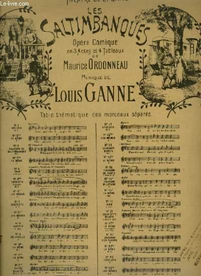 LES SALTIMBANQUES - N°4 BIS : TRIOLETS - POUR PIANO ET CHANT MEZZO SOPRANO AVEC PAROLES.