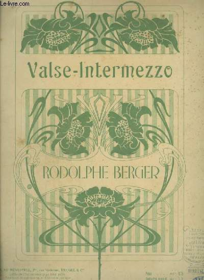 VALSE INTERMEZZO - POUR PIANO ET CHANT.