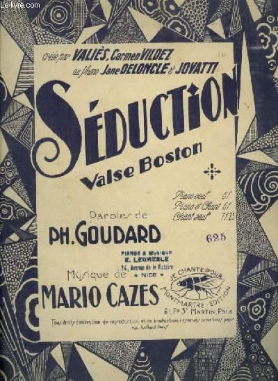 SEDUCTION - VALSE BOSTON POUR PIANO ET CHANT AVEC PAROLES.