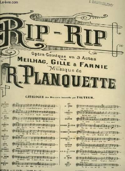 RIP RIP - N°3 : AIR POUR PIANO ET CHANT AVEC PAROLES.