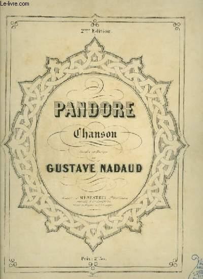 PANDORE - CHANSON POUR PIANO ET CHANT AVEC PAROLES.