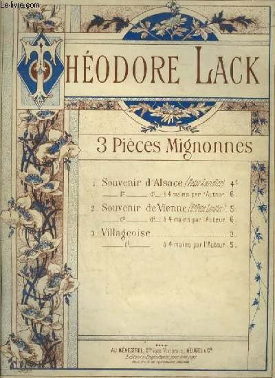 3 PIECES MIGNONNES - N°3 : VILLAGEOISE - POUR PIANO.