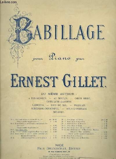 BABILLAG - POUR PIANO.