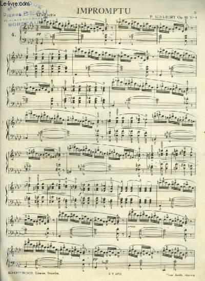 IMPROMPTU N°4 - OP.90 POUR PIANO.