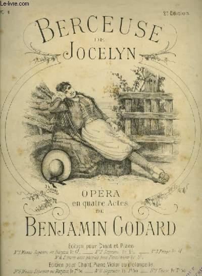 BERCEUSE DE JOCELYN - N°1 : BERCEUSE POUR PIANO ET CHANT MEZZO SOPRANO OU BARYTON AVEC PAROLES.