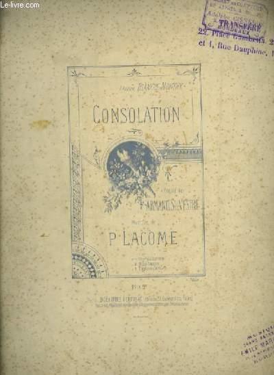 CONSOLATION - N°2 : POUR PIANO ET CHANT MEZZO SOPRANO AVEC PAROLES.