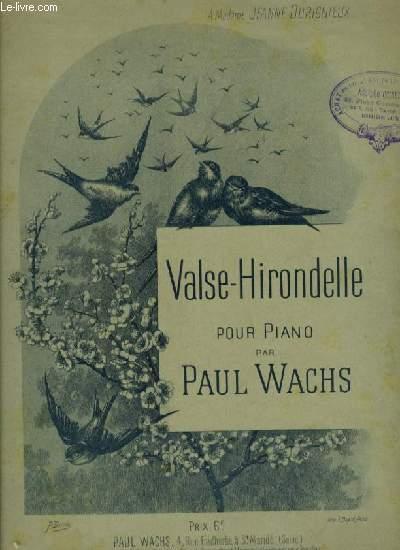 VALSE HIRONDELLE - POUR PIANO.