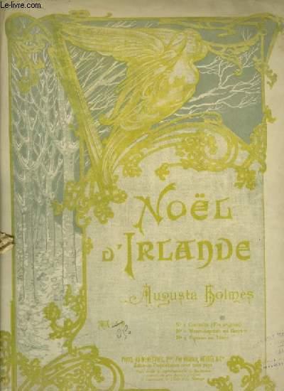 NOEL D'IRLANDE - N°1 : POUR PIANO ET CHANT CONTRALTO - TON ORIGINAL AVEC PAROLES.