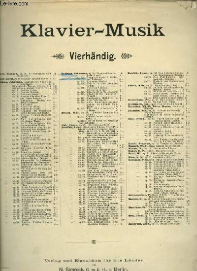 CONCERT FÜR PIANO ZU 4 HÄNDEN - OP.102.