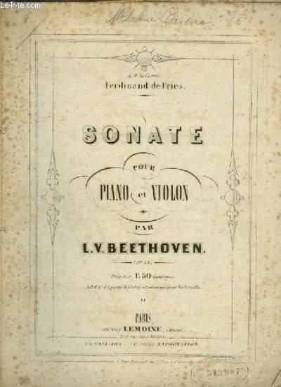 SONATE POUR PIANO ET VIOLON - OP.24.