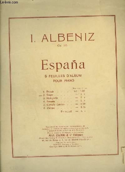 ESPANA - N°2 : TANGO - POUR PIANO.