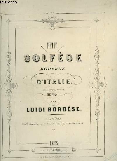 PETIT SOLFEGE MODERNE D'ITALIE AVEC ACCOMPAGNEMENT DE PIANO.