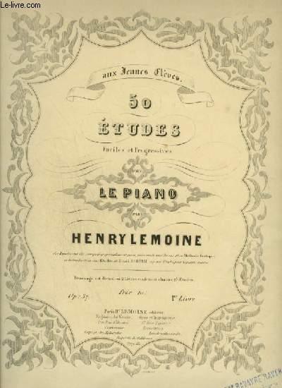 50 ETUDES FACILES ET PROGRESSIVES POUR LE PIANO - LIVRE 1 : ETUDE 1 A 25.